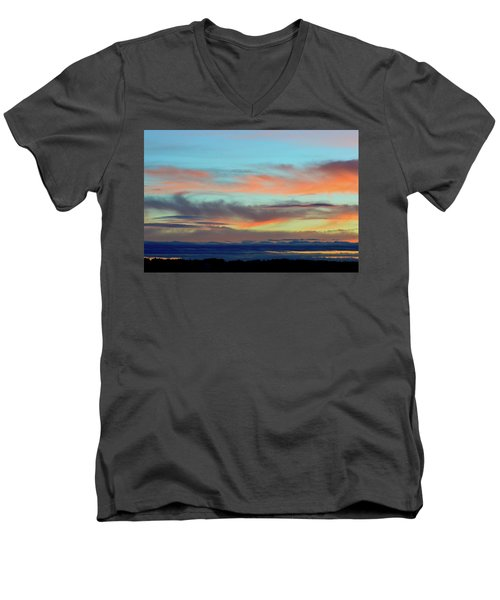 Clouds At Different Altitudes  Men's V-Neck T-Shirt