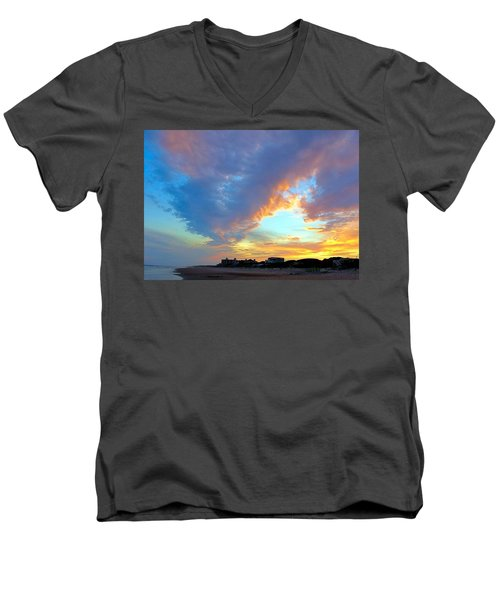 Clouds At Sunset Men's V-Neck T-Shirt by Betty Buller Whitehead