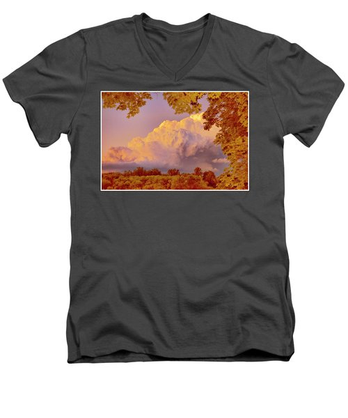 Clouds At Sunset, Southeastern Pennsylvania Men's V-Neck T-Shirt