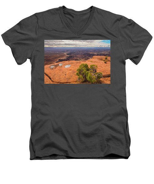 Clouds Junipers And Potholes Men's V-Neck T-Shirt by Angelo Marcialis