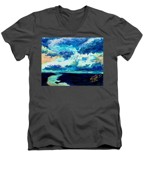 Clouds Men's V-Neck T-Shirt by Melinda Dare Benfield