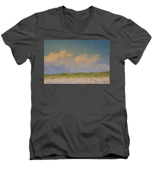 Clouds Over Goosewing Men's V-Neck T-Shirt