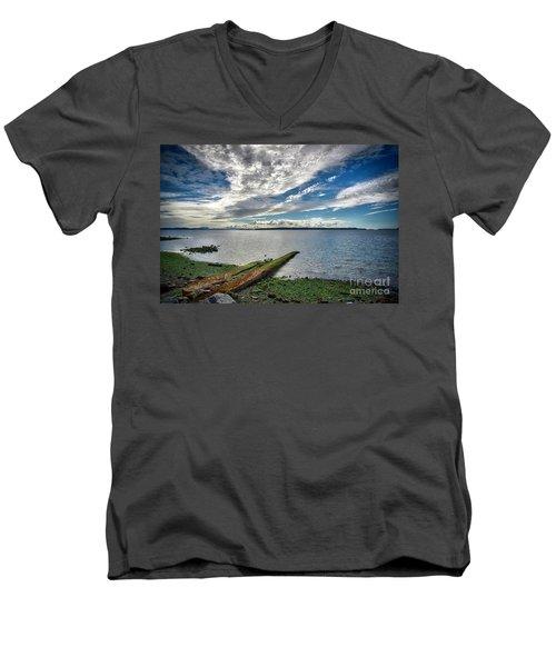 Clouds Over The Bay Men's V-Neck T-Shirt