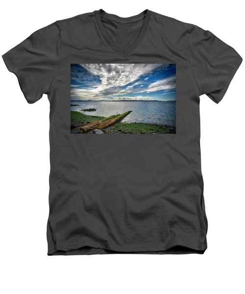 Clouds Over The Bay Men's V-Neck T-Shirt