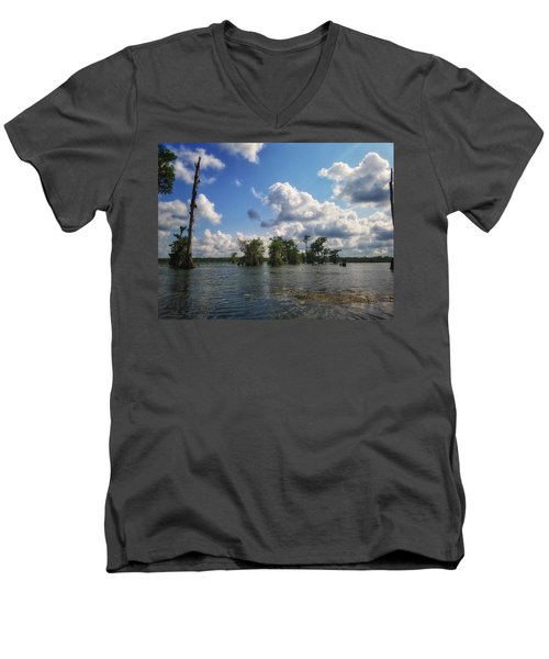 Clouds Over The Louisiana Bayou Men's V-Neck T-Shirt