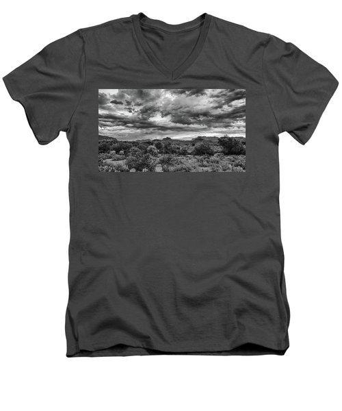 Clouds Over The Superstitions Men's V-Neck T-Shirt by Monte Stevens