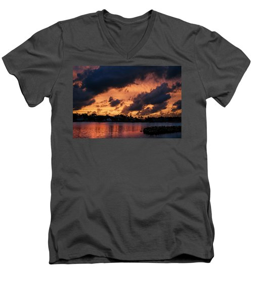 Men's V-Neck T-Shirt featuring the photograph Cloudscape by Laura Fasulo