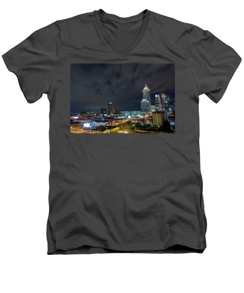 Cloudy City Men's V-Neck T-Shirt