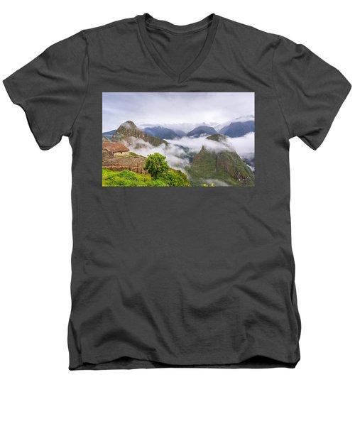 Cloudy Mountains. Men's V-Neck T-Shirt