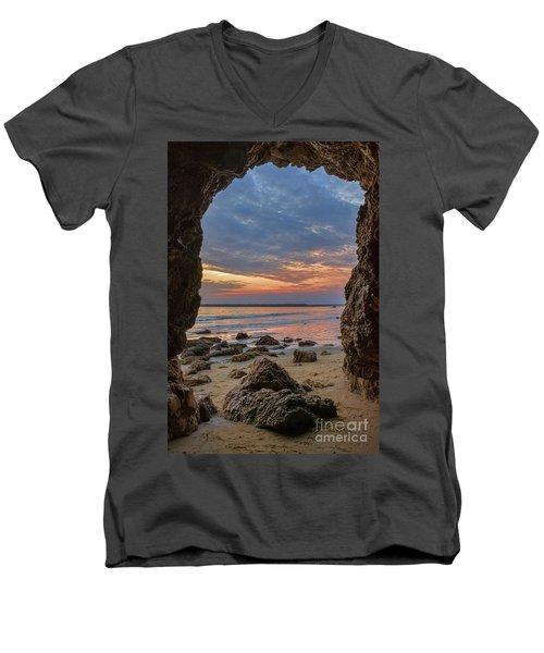 Cloudy Sunset At Low Tide Men's V-Neck T-Shirt