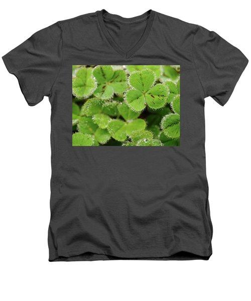 Cloverland Frosted Over Men's V-Neck T-Shirt