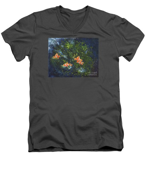 Clowning Around Men's V-Neck T-Shirt by Carol Sweetwood