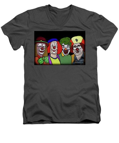Clowns Men's V-Neck T-Shirt by Megan Dirsa-DuBois