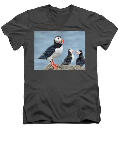 Clowns Of The Sea. Men's V-Neck T-Shirt