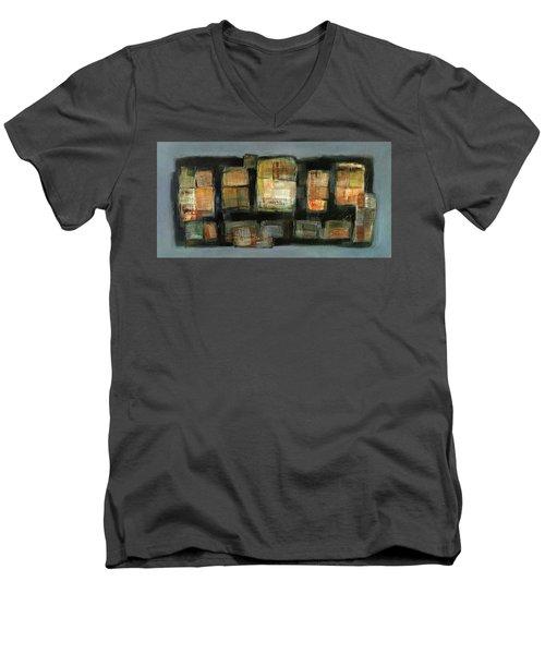 Club Men's V-Neck T-Shirt by Behzad Sohrabi