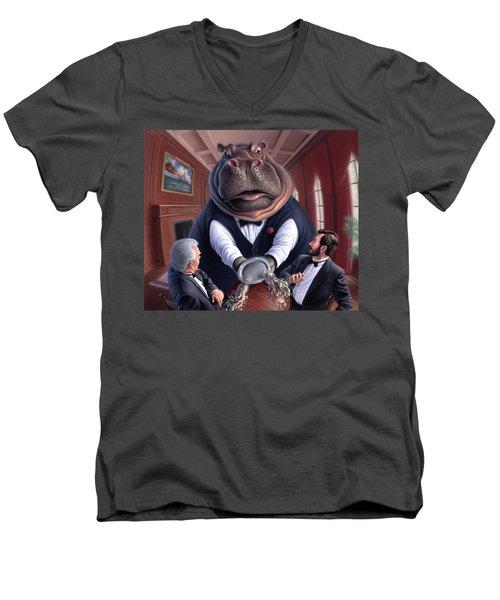 Clumsy Men's V-Neck T-Shirt by Jerry LoFaro