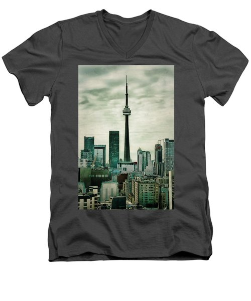 Cn Tower Men's V-Neck T-Shirt
