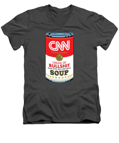 Cnn Soup Can Men's V-Neck T-Shirt