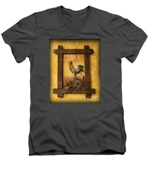 Co Co Ri Co Cockerel Men's V-Neck T-Shirt
