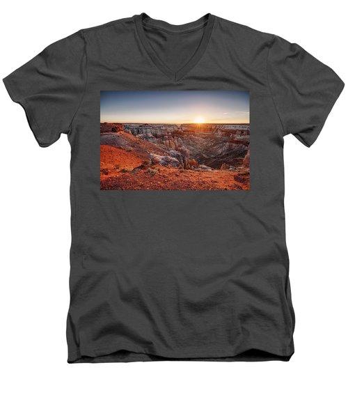 Coal Mine Canyon Sunrise Men's V-Neck T-Shirt
