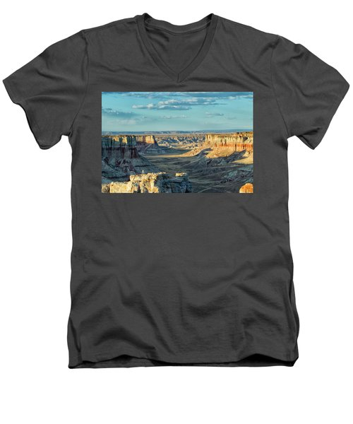 Coal Mine Canyon Men's V-Neck T-Shirt by Tom Kelly