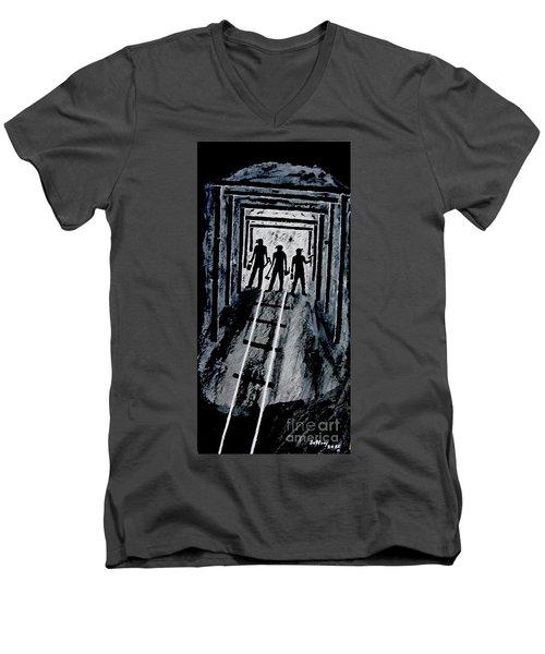 Coal Miners At Work Men's V-Neck T-Shirt