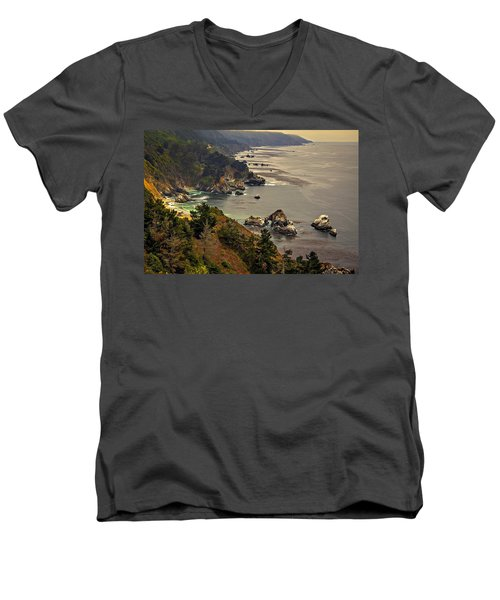 Coast Line Men's V-Neck T-Shirt