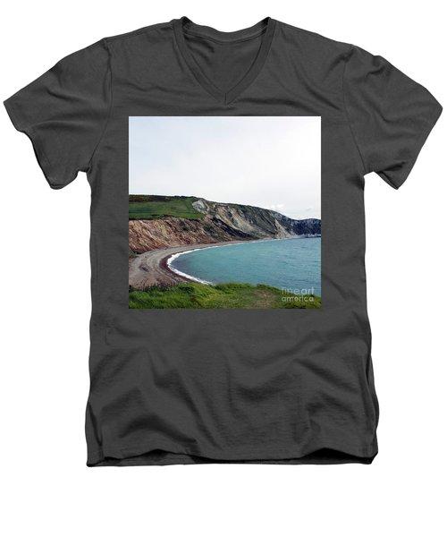 Coastal Arch Men's V-Neck T-Shirt by Sebastian Mathews Szewczyk