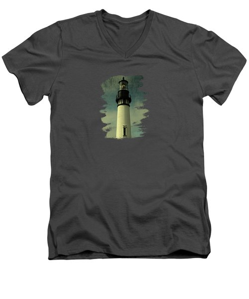 Coastal Breeze At Yaquina Head Men's V-Neck T-Shirt