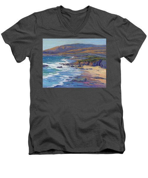 Coastal Cruising 8, San Simeon Men's V-Neck T-Shirt