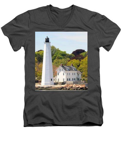 Coastal Lighthouse-c Men's V-Neck T-Shirt