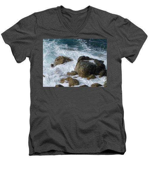 Coastal Rocks Trap Water Men's V-Neck T-Shirt