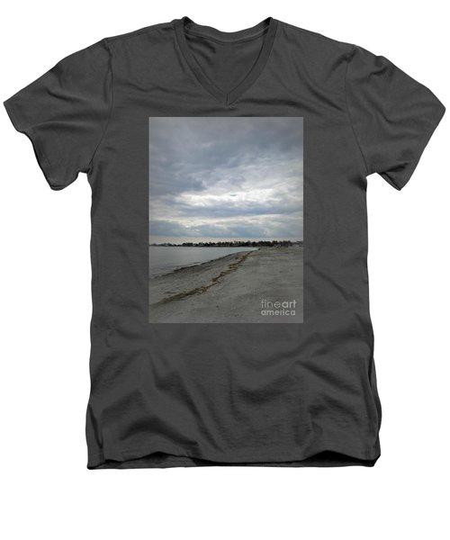 Coastal Winter Men's V-Neck T-Shirt by Kristine Nora