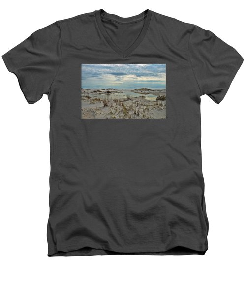 Men's V-Neck T-Shirt featuring the photograph Coastland Wetland by Renee Hardison