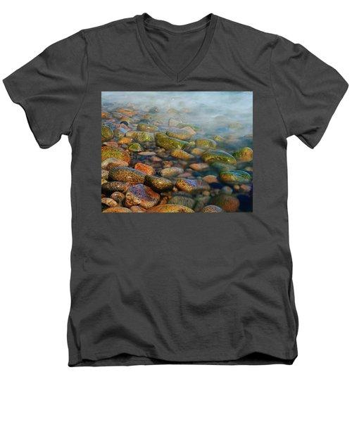 Cobblestone Beach Men's V-Neck T-Shirt