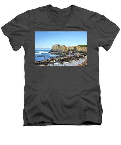 Cobblestone Beach Men's V-Neck T-Shirt