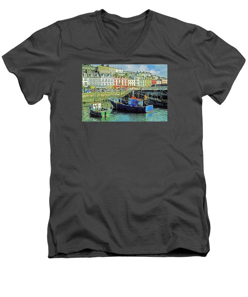 Cobh Harbour Men's V-Neck T-Shirt by Dennis Cox WorldViews