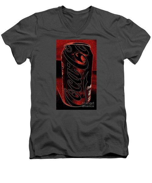 Coca Cola Can Coin Safe Men's V-Neck T-Shirt