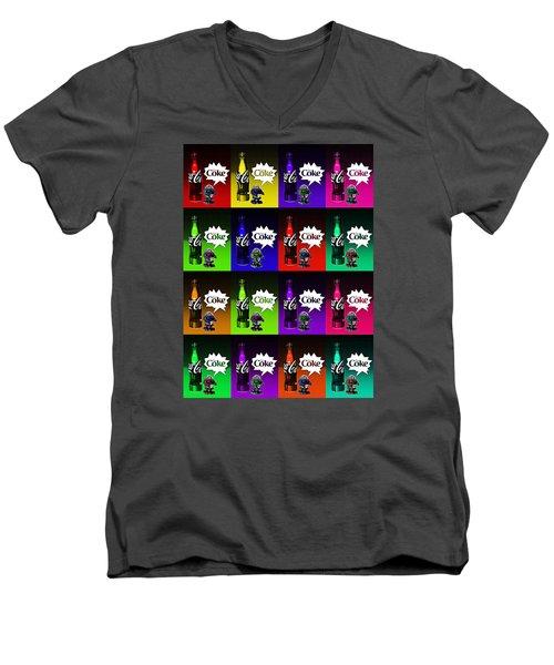 Coca-cola Forever Young 13 Men's V-Neck T-Shirt