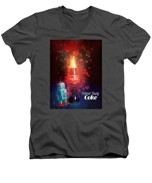 Coca-cola Forever Young 15 Men's V-Neck T-Shirt