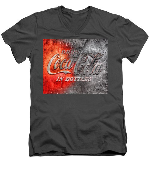 Coca Cola Men's V-Neck T-Shirt