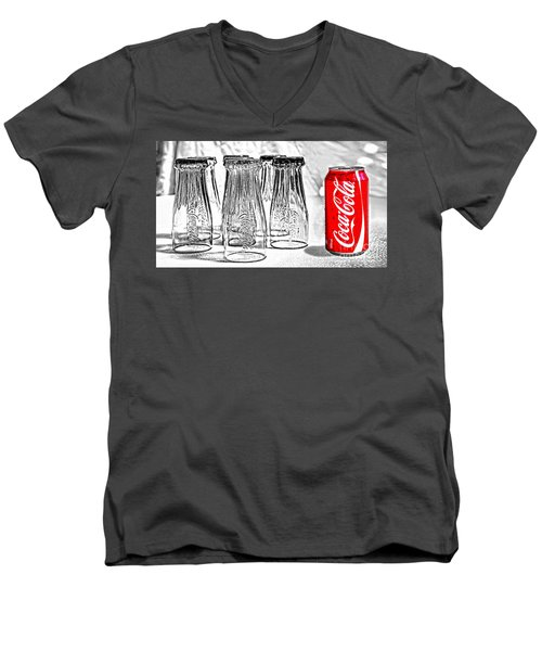 Coca-cola Ready To Drink By Kaye Menner Men's V-Neck T-Shirt