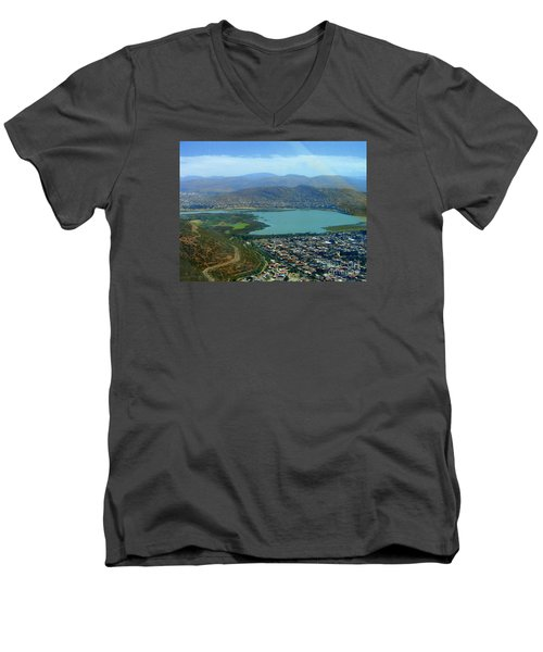 Men's V-Neck T-Shirt featuring the photograph Cochabamba Lake by Lew Davis