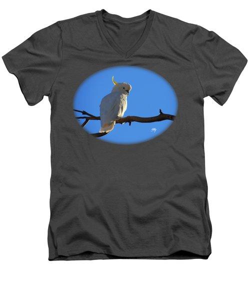 Cockatoo Men's V-Neck T-Shirt by Linda Hollis
