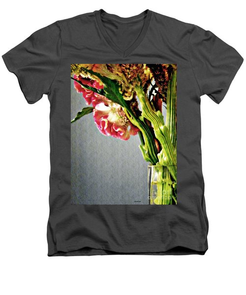 Men's V-Neck T-Shirt featuring the photograph Cockscomb Bouquet 5 by Sarah Loft