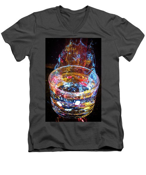 Cocktail Chip Men's V-Neck T-Shirt by Mark Dunton