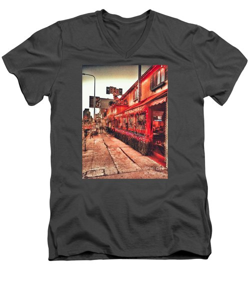 West Los Angeles Cocktail Row Men's V-Neck T-Shirt
