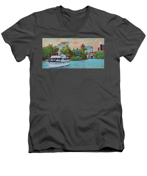 Cocktails On The New River Men's V-Neck T-Shirt