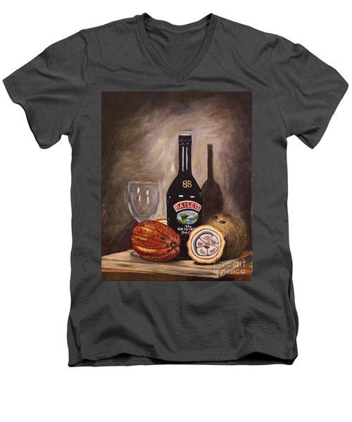 Cocoa Pods Coconut And Irish Cream Men's V-Neck T-Shirt