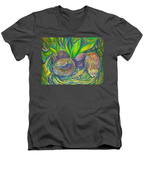 Coconuts Men's V-Neck T-Shirt by Anna  Duyunova
